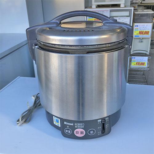 【中古】ガス炊飯器 リンナイ RR-S100VL 幅309×奥行286×高さ359 都市ガス 【送料無料】【業務用】【厨房機器】