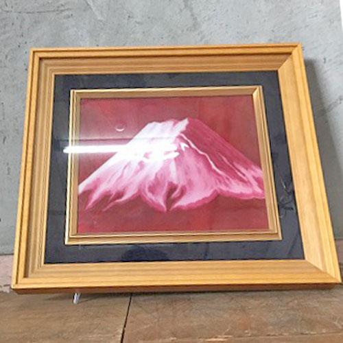 【中古】陶額富士山 幅420×奥行45×高さ360 【送料無料】【業務用】