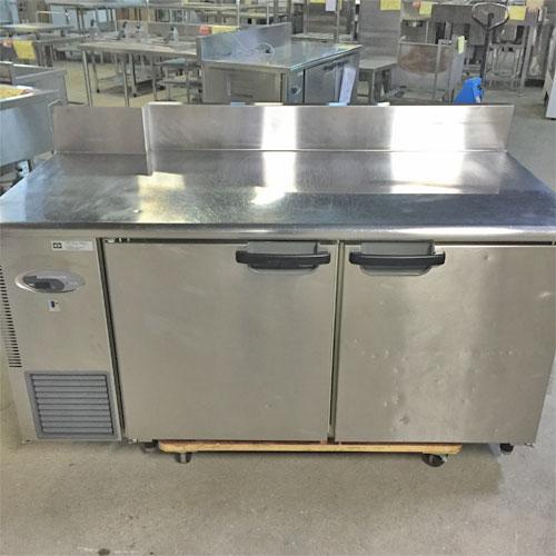 【中古】冷蔵コールドテーブル BG付 ピラーレス 天板加工品 フジマック FRT1560JP 幅1500×奥行750×高さ850 【送料無料】【業務用】【厨房機器】