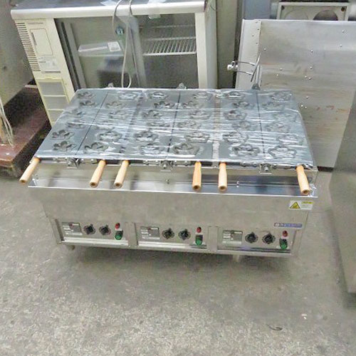 【中古】電気式人形焼き器 メープル カジワラ KTI-3 幅980×奥行710×高さ530 【送料別途見積】【業務用】