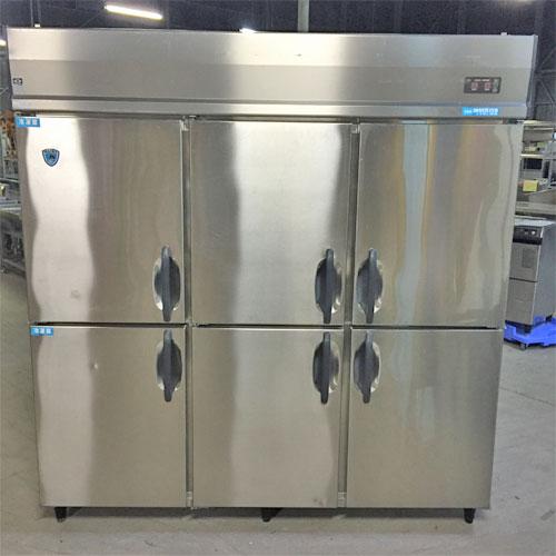 【中古】縦型冷凍冷蔵庫 2凍4蔵 ダイワ冷機 613S2-EC 幅1800×奥行800×高さ1905 【送料別途見積】【業務用】