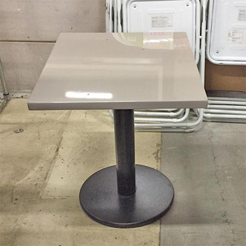 【中古】テーブル 白 幅500×奥行600×高さ600 【送料別途見積】【業務用】