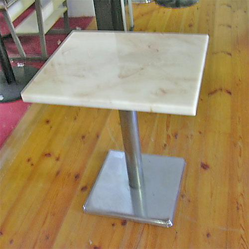 【中古】洋風テーブル 幅600×奥行500×高さ700 【送料無料】【業務用】