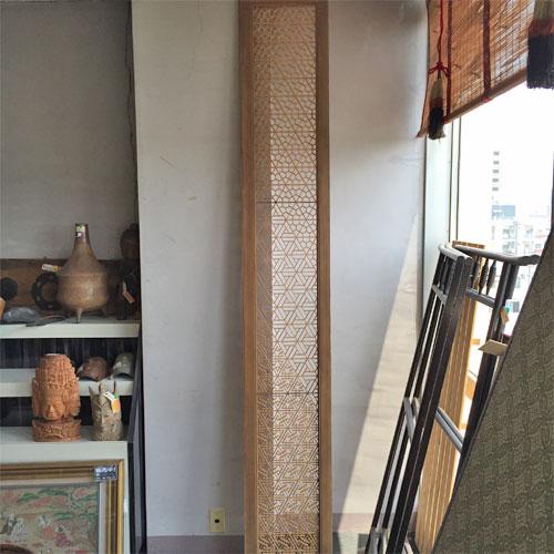 【中古】アンティーク(日本有形文化財)欄間 幅2585×奥行30×高さ395 【送料無料】【業務用】