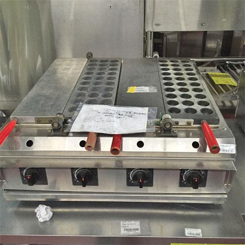 【中古】たこ焼き機 蜜元研究所 MAG-02 幅700×奥行700×高さ350 都市ガス 【送料別途見積】【業務用】