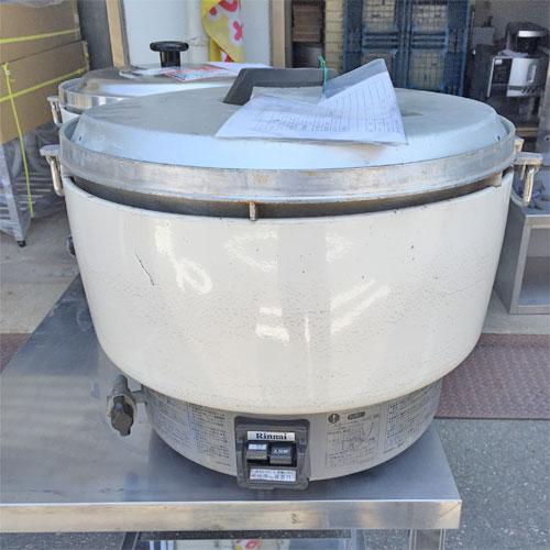 【中古】ガス炊飯器 5升 リンナイ RR-50S1 幅525×奥行481×高さ434 都市ガス 【送料無料】【業務用】