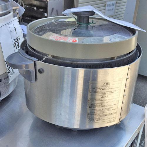 【中古】ガス炊飯器 2升 涼厨 リンナイ RR-S20SF 幅387×奥行470×高さ357 都市ガス 【送料無料】【業務用】【厨房機器】