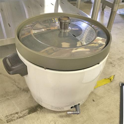 【中古】ガス炊飯器 2升用 リンナイ RR-20SF2 幅348×奥行431×高さ334.5 都市ガス 【送料無料】【業務用】【厨房機器】