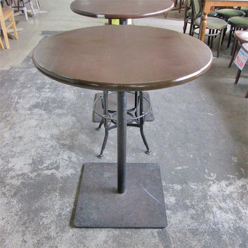 【中古】丸ハイテーブル 幅740×高さ910 【送料無料】【業務用】
