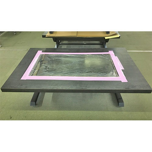 【中古】お好み焼きテーブル 幅1200×奥行800×高さ320 都市ガス 【送料無料】【業務用】