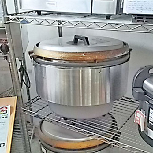 【中古】ガス炊飯器 リンナイ RR-50S1 幅525×奥行490×高さ434 都市ガス 【送料別途見積】【業務用】