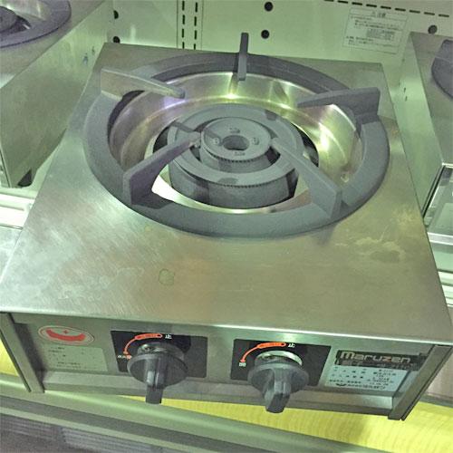 【中古】1口ガスコンロ(親子) マルゼン M-211C 幅350×奥行420×高さ160 都市ガス 【道内送料無料】【業務用】