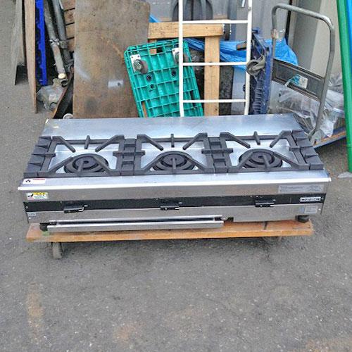 【中古】ガステーブルコンロ オザキ OZ120-60KJ1 幅1200×奥行600×高さ250 LPG(プロパンガス) 【送料別途見積】【業務用】
