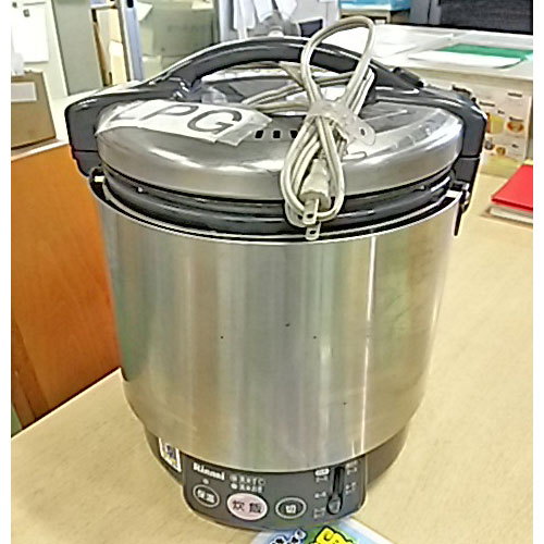 【中古】電子ジャー付ガス炊飯器 リンナイ RR-S100VL 幅340×奥行300×高さ320 LPG(プロパンガス) 【送料無料】【業務用】