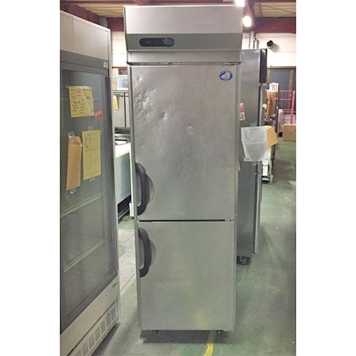 【中古】縦型冷凍庫 サンヨー SRF-G683 幅620×奥行800×高さ2000 三相200V 【送料無料】【業務用】【厨房機器】