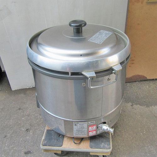 【中古】ガス炊飯器 リンナイ(Rinnai) RR-30G1 幅480×奥行440×高さ460 LPG(プロパンガス)/業務用/送料別途見積【厨房機器】