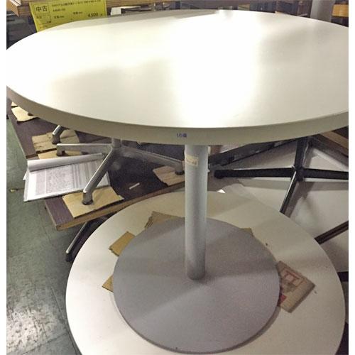 【中古】白丸洋風テーブル 幅800×奥行800×高さ710 【送料無料】【業務用】
