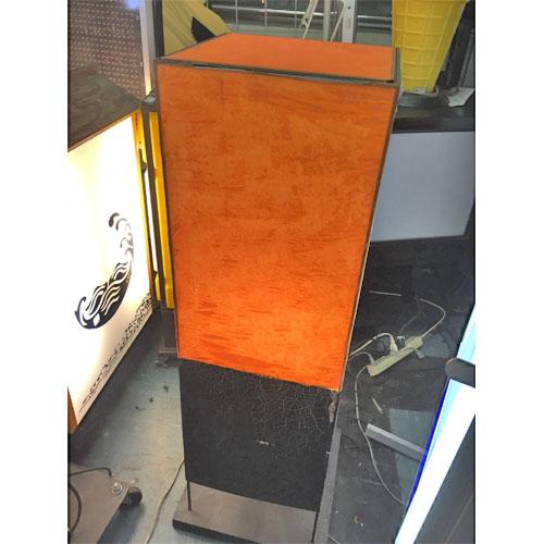 【中古】オレンジ電飾看板 幅450×奥行450×高さ1400 【送料無料】【業務用】