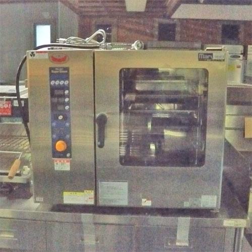【中古】ガススチームコンベクションオーブン マルゼン SSCG-05SC 幅790×奥行750×高さ710 都市ガス 【送料別途見積】【業務用】