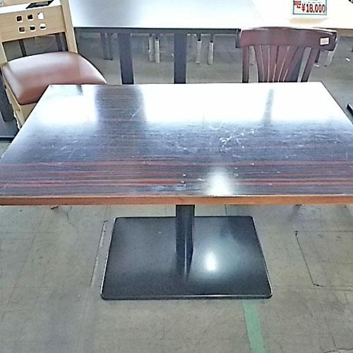 【中古】1本脚4人掛けテーブル 幅1090×奥行700×高さ650 【送料無料】【業務用】