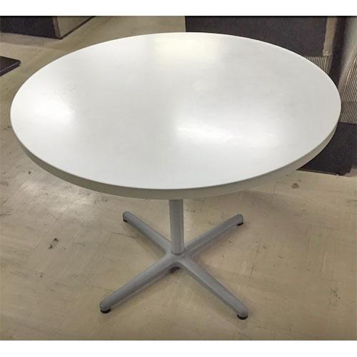 【中古】丸テーブル 天板 白 幅900×高さ720 【送料別途見積】【業務用】