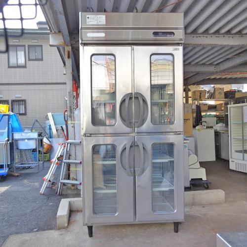 【中古】縦型冷凍リーチインショーケース 福島工業(フクシマ) URN-34FM1(改) 幅900×奥行650×高さ1950 三相200V 【送料別途見積】【業務用】【厨房機器】