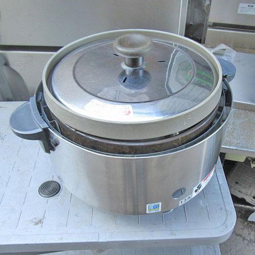 【中古】ガス炊飯器 リンナイ RR-S15SF 幅480×奥行390×高さ340 都市ガス 【送料別途見積】【業務用】