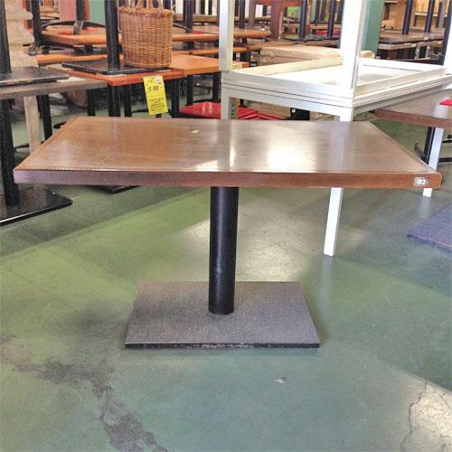 【中古】角テーブル BR木縁 幅1200×奥行750×高さ700 【送料別途見積】【業務用】