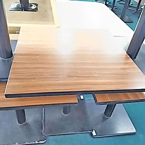 【中古】テーブル木目 幅750×奥行750×高さ710 【送料無料】【業務用】