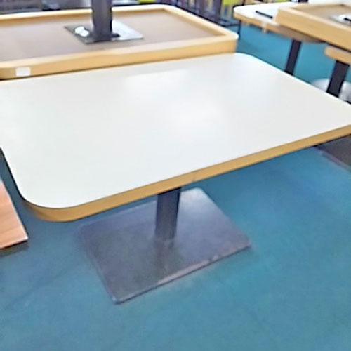 【中古】洋風テーブル白大 幅1200×奥行750×高さ690 【送料無料】【業務用】