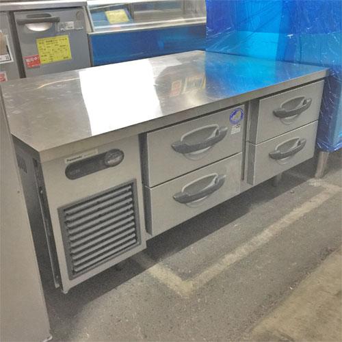 【中古】冷蔵ドロワーコールドテーブル パナソニック(Panasonic) SUF-DG1271-2B 幅1200×奥行750×高さ550 【送料別途見積】【業務用】