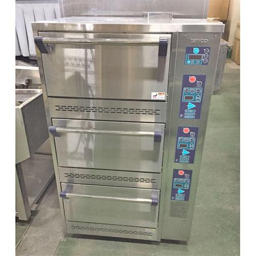 【中古】ガス立体炊飯器 タニコー TGRC-3DT 幅785×奥行702×高さ1285 LPG(プロパンガス) 【送料無料】【業務用】