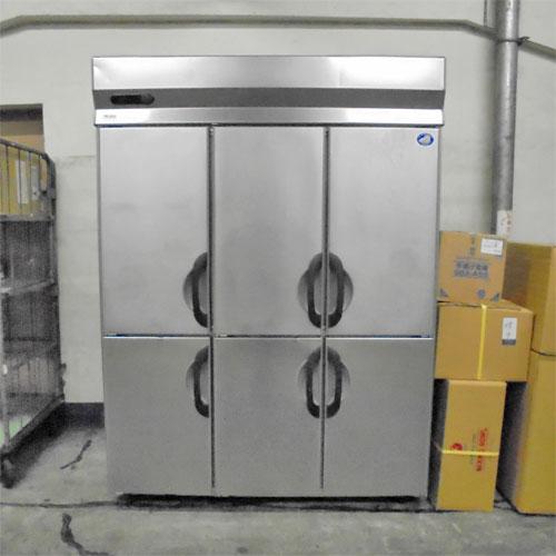 【中古】6ドア 冷凍庫 サンヨー SRF-G1563-3 幅1460×奥行610×高さ1990 三相200V 【送料別途見積】【業務用】【厨房機器】