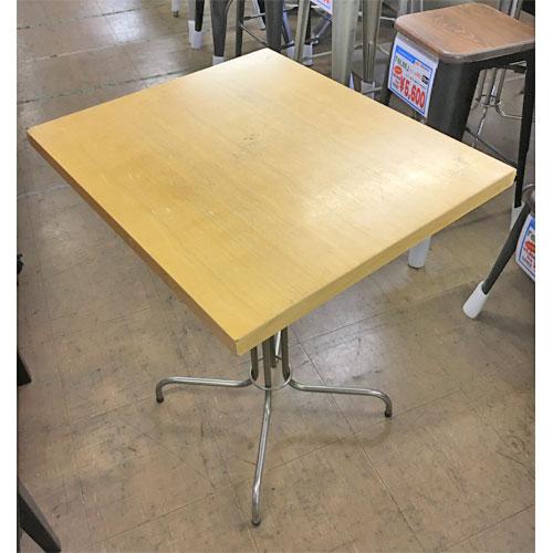 【中古】洋風テーブル 幅650×奥行550×高さ740 【送料無料】【業務用】