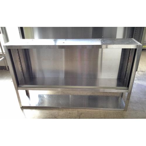 中古 W1230×D300×H600mm ラック 業務用 厨房用 食器庫 ステンレス GF1621|吊戸棚