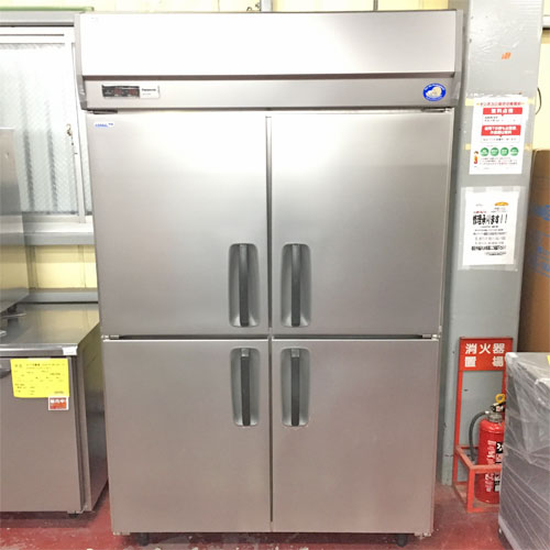【中古】4ドア冷凍冷蔵庫 パナソニック(Panasonic) SRR-K1283CS 幅1200×奥行800×高さ1950 三相200V 【送料別途見積】【業務用】