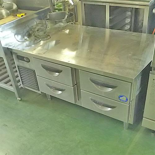 【中古】冷蔵低ドロワーコールドテーブル サンヨー SUR-DF1271-2A 幅1200×奥行750×高さ565 【送料無料】【業務用】【厨房機器】