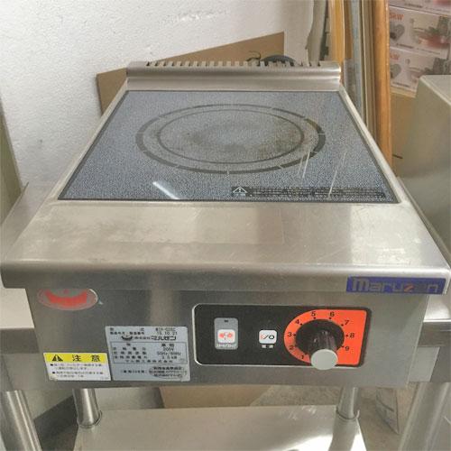 【中古】IH調理器 マルゼン MIH-03SC 幅450×奥行600×高さ170 三相200V 【送料無料】【業務用】