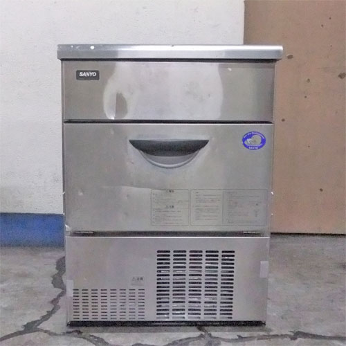 【中古】製氷機 サンヨー SIM-S58 幅630×奥行500×高さ845 【送料別途見積】【業務用】【厨房機器】