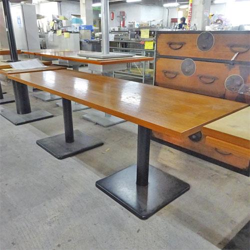 【中古】洋風テーブル 幅1800×奥行600×高さ600 【送料別途見積】【業務用】