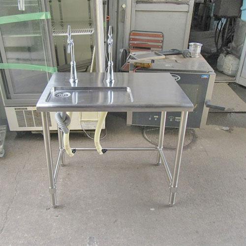 【中古】ドリンクテーブル 幅870×奥行600×高さ800 【送料別途見積】【業務用】