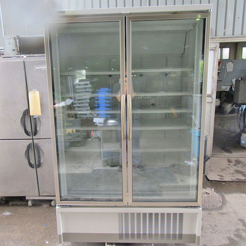 【中古】冷凍冷蔵リーチインショーケース 富士電気リテイルシステムズ UEFG75AN-2ECM 幅1200×奥行750×高さ1900 三相200V 【送料無料】【業務用】