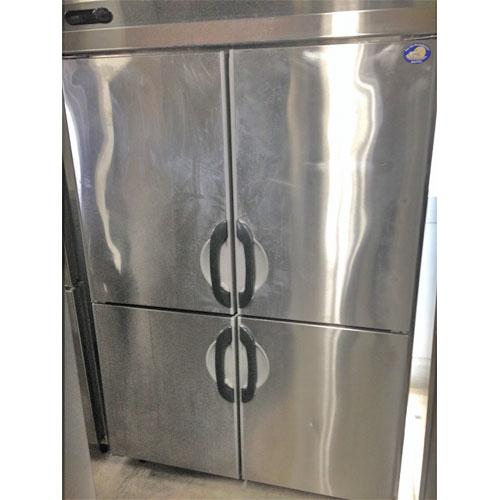 【中古】4ドア縦型冷蔵庫 サンヨー SRR-F1283S 幅1200×奥行800×高さ1950 三相200V 【送料別途見積】【業務用】【厨房機器】