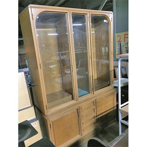 【中古】食器戸棚 木製 幅1300×奥行450×高さ1900 【送料別途見積】【業務用】