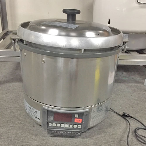 【中古】ガス炊飯器 リンナイ RR-30G1-H 幅466×奥行430×高さ460 都市ガス 【送料別途見積】【業務用】
