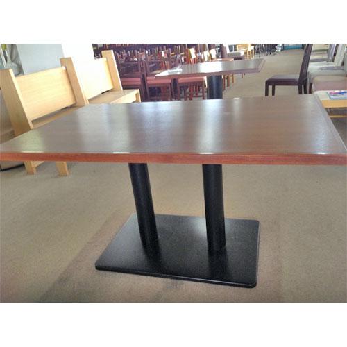 【中古】洋風テーブル(木目)茶色 幅1400×奥行900×高さ730 【送料無料】【業務用】