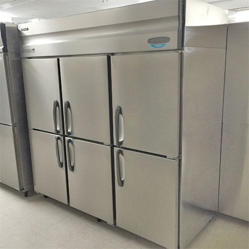 【中古】縦型冷凍冷蔵庫(4凍2蔵) ホシザキ HRF-180X4F3 幅1800×奥行800×高さ1900 三相200V 【送料別途見積】【業務用】