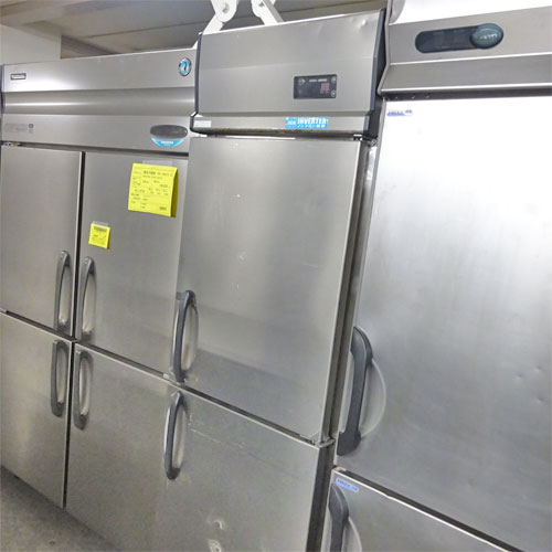 【中古】縦型冷凍庫 大和冷機 203NYSS-EC 幅600×奥行650×高さ1950 三相200V 【送料別途見積】【業務用】