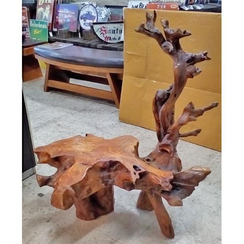 【中古】床の間用木製花台 幅860×奥行520×高さ960 【送料別途見積】【業務用】