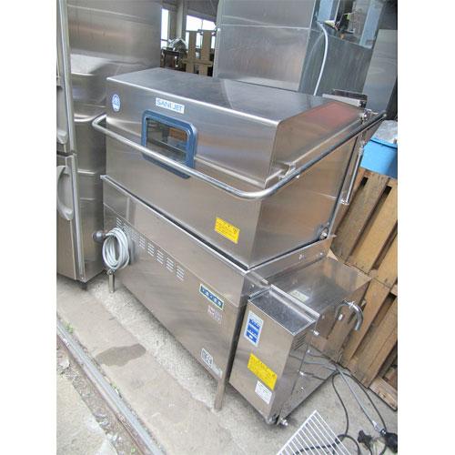 【中古】食器洗浄機(ツインラックドアタイプ) 日本洗浄機 SDW-218-GSH 幅1450×奥行750×高さ1400 三相200V 50Hz専用 都市ガス 【送料別途見積】【業務用】